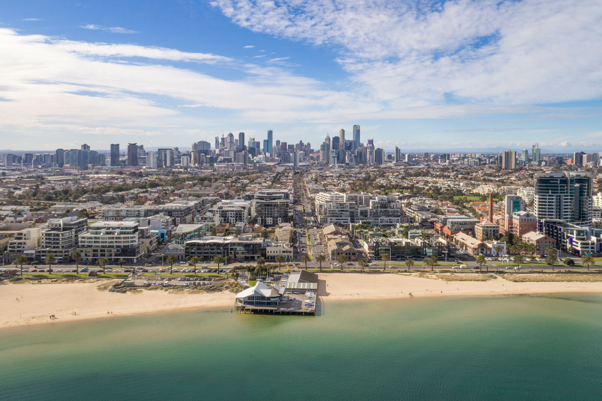 Aerial Photography Port Melbourne