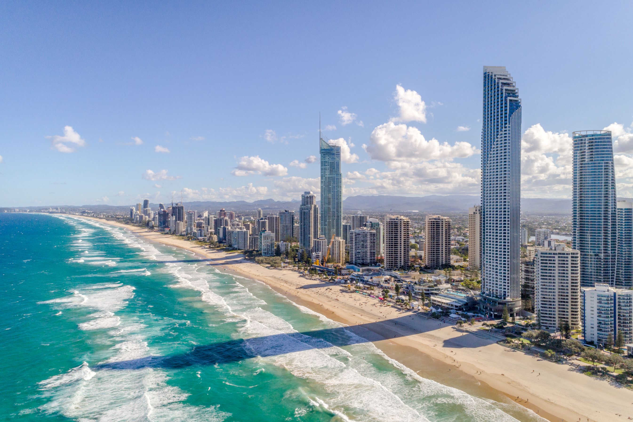 aerial photography gold coast surfers paradise