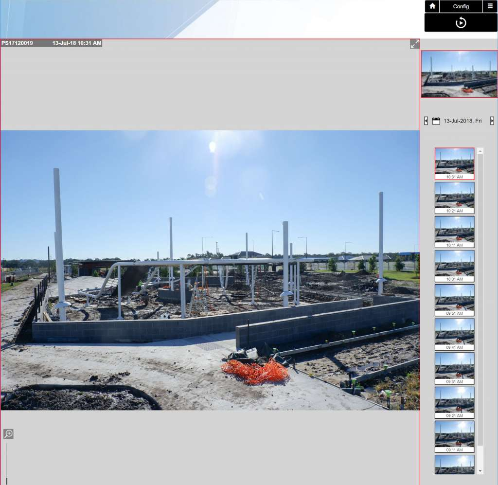 Construction Timelapse Customer Interface