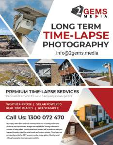 long term construction time-lapse photography